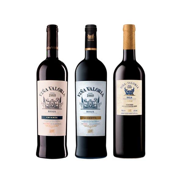 Pack 3 Vinos Tinto Viña Valoria